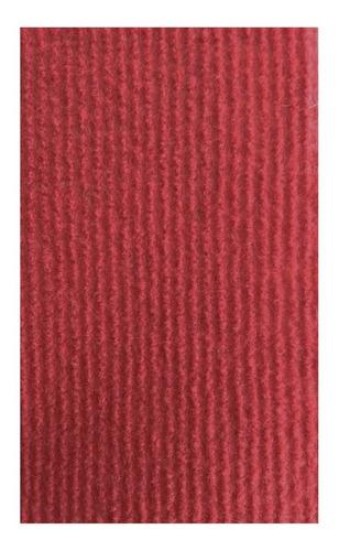 alfombra boucle punzonada acanalada x m2 rojo