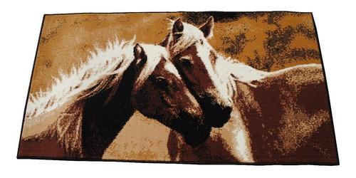 alfombra caballos 80x150cm kreatex