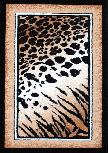 alfombra carpeta animal print 4252 leopardo 70x150cm kreatex