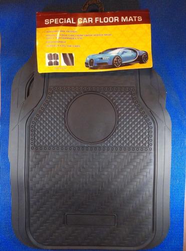 alfombra carro universal pisos 4 piezas negros