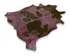 alfombra cuero de vaca teñido con pelo tamaño m