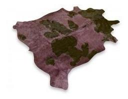 alfombra  cuero de vaca teñido con pelo. tamaño x  l