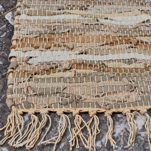 alfombra cuero marrón 70x140 46045 okko