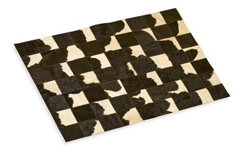 alfombra cuero pelo patchwork 1.2 x 1.8m holando