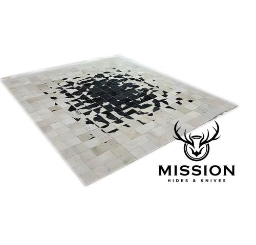 alfombra cuero pelo patchwork 1,6 x 2,0m nube