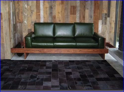 alfombra cuero pelo patchwork 1.8 x 2.4m en 5x5