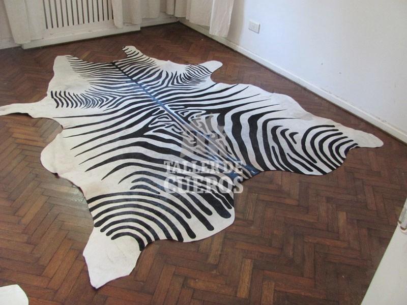 Alfombra de cebra alfombra de piel de vaca cebra - Alfombras animal print ...