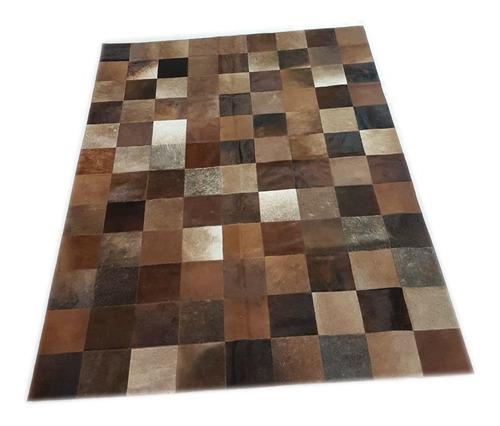 alfombra cuero vaca patchwork 1.8 x 2.4m multimarron