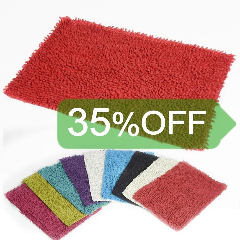 alfombra de bao flecos bao colores lavables