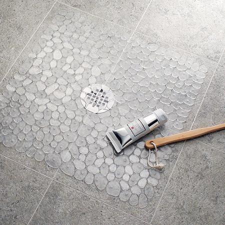 alfombra de ducha cuadrado de pebblz interdesign