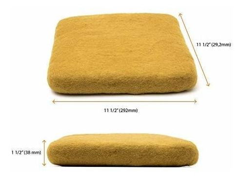 alfombra de fieltro glaciart xxl 115 x 115 x 15 100% lana nu