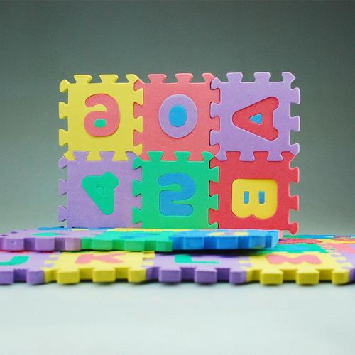 alfombra de foami para bebé y niño 36 piezas 8x8 52x48 cm