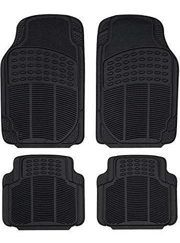 alfombra de goma 4 piezas negra y gris