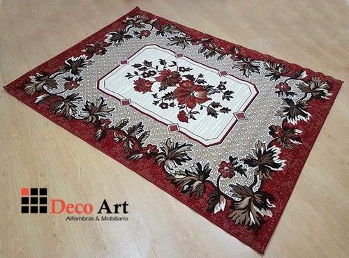 alfombra decorativa pelo bajo 3.20x2.40mt extra grande nueva