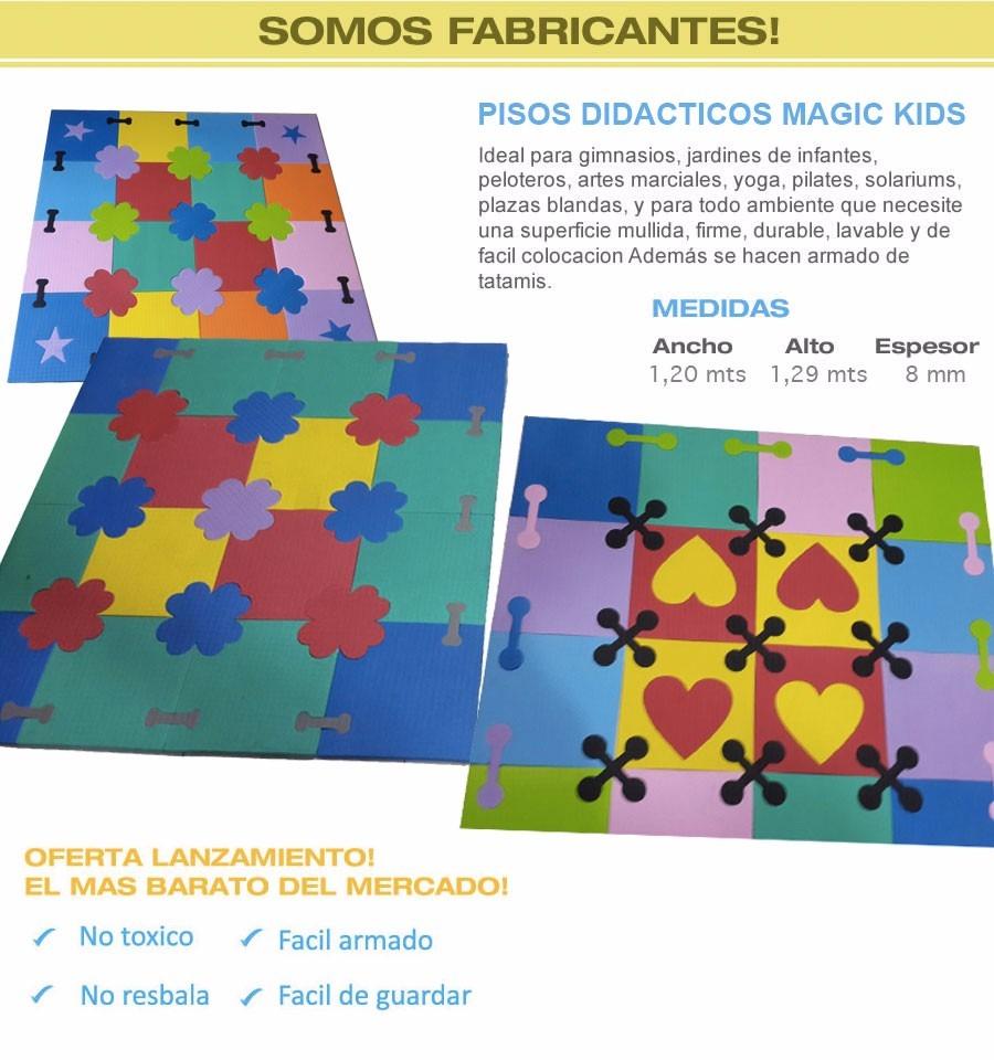 alfombra didctica goma eva para bebes magic kids