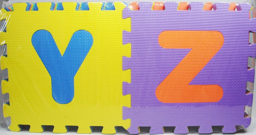 alfombra foami bebes abecedario 26 piezas 30x30