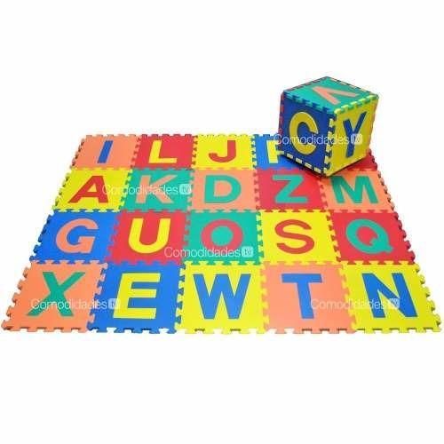 alfombra foami bebes abecedario 26 piezas