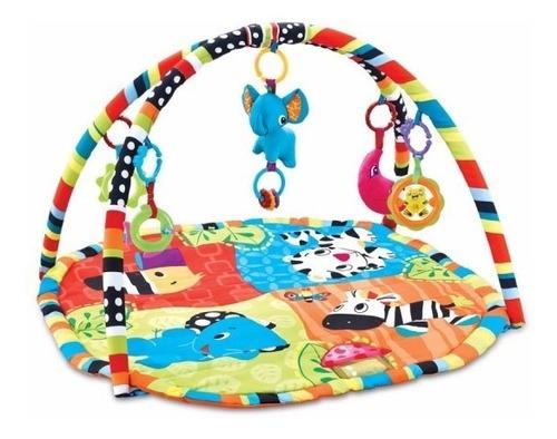 alfombra gimnasio manta didactica con juguetes motivo zoo