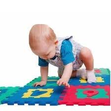 alfombra goma eva, set 10 cuadros de 30x30, bebes, juguetes