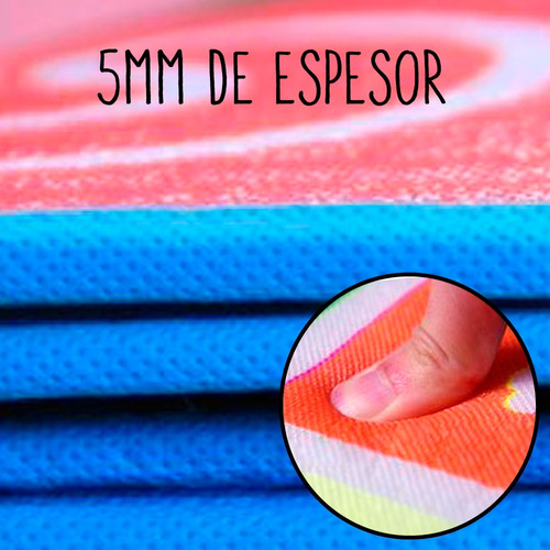 alfombra grande manta antigolpes para gateo bebe 1,5x1,8 pc