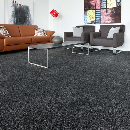 alfombra gris charcoal residencial 4x4  metros