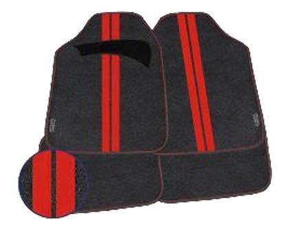 alfombra gts negro/rojo 09