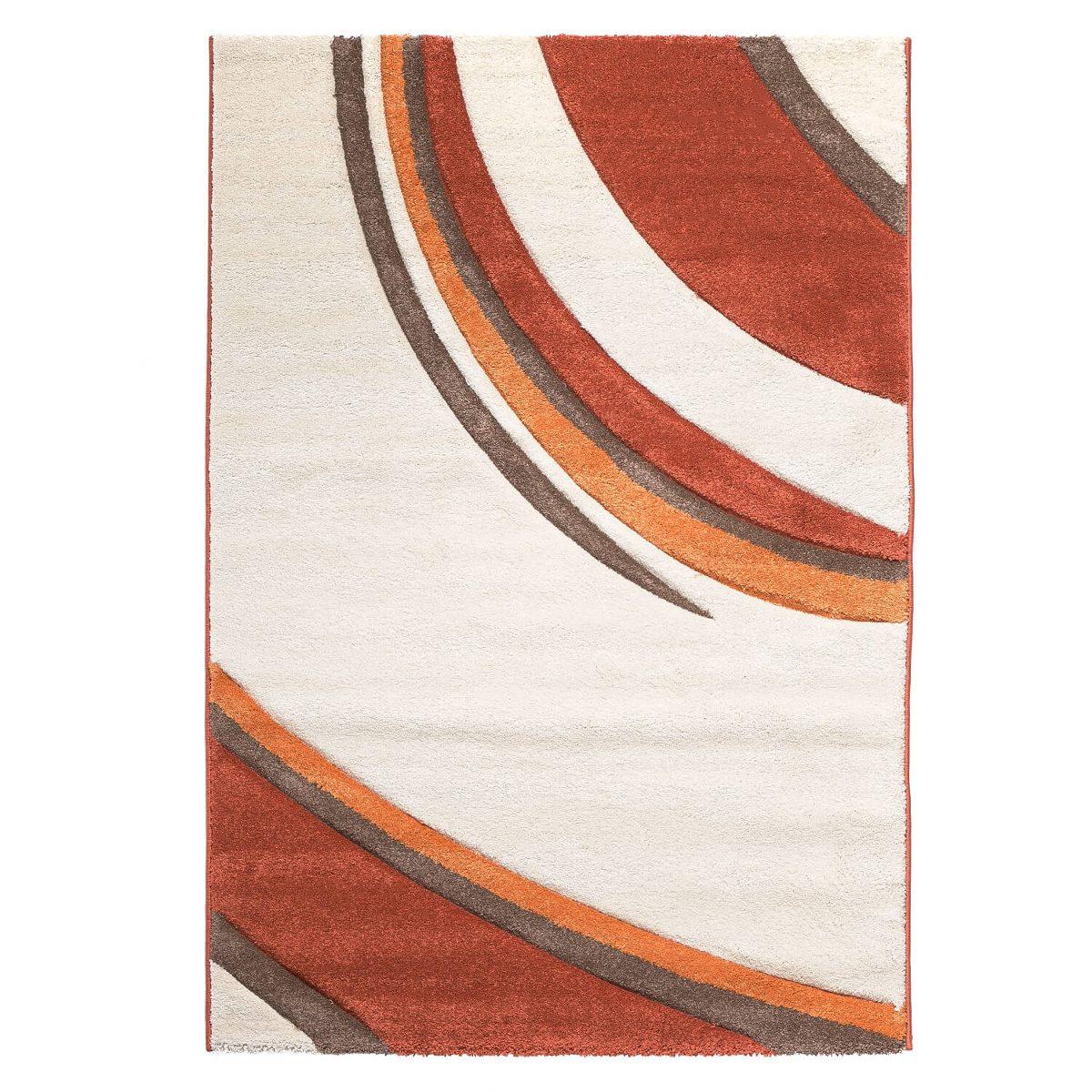 Alfombra Houston Curvas133x190 Mediana Crema Rojo Dib 59 190  # Muebles Dib Vina Del Mar
