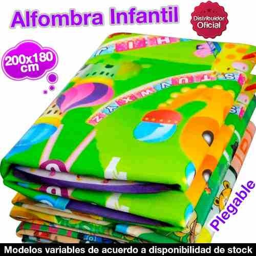 alfombra infantil antigolpe bebe 200x180cm  camping oferta!