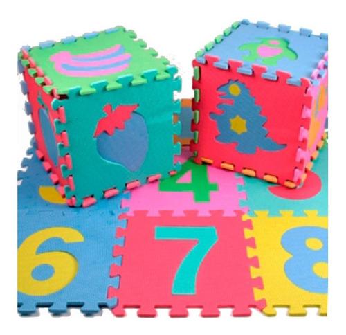 alfombra infantil goma eva piso 10 piezas 30x30cm grosor 7mm