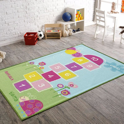 alfombra infantil rayuela 100x140 cm