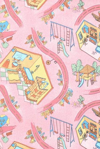 alfombra infantil rosa 100x100cm kreatex