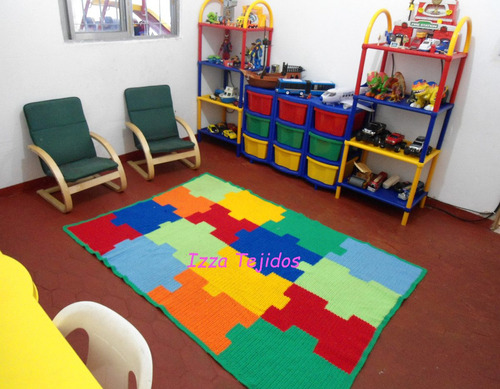 alfombra infantil tejida a mano x m2
