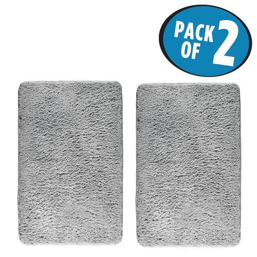 alfombra mdesign microfiber sherpa accent shower para cua