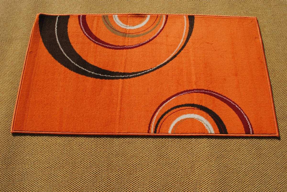 alfombra moderna xcm naranja kreatex