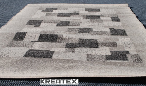 alfombra moderna gris 190x280 kreatex