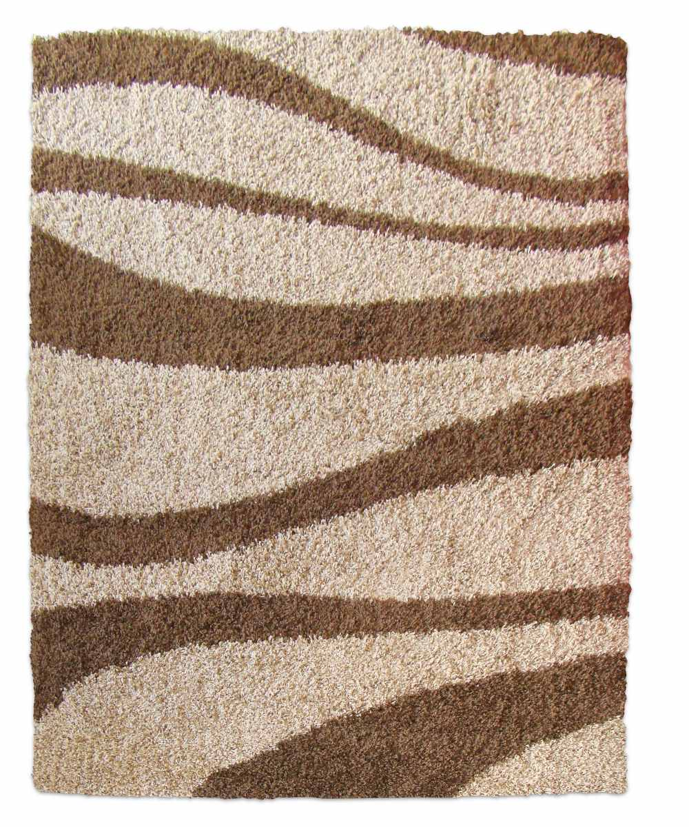 alfombra moderna shaggy living city brown x cm