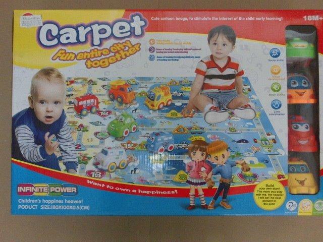 Alfombra para bebes grande ni os con carritos juguete juego bs 7 50 en mercado libre - Alfombras infantiles grandes ...