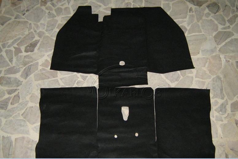 Alfombra Para Piso Vocho Negra 2 Pzas Tipo Original