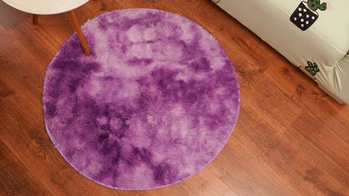 alfombra peluda circular 1.5 m. 7 colores
