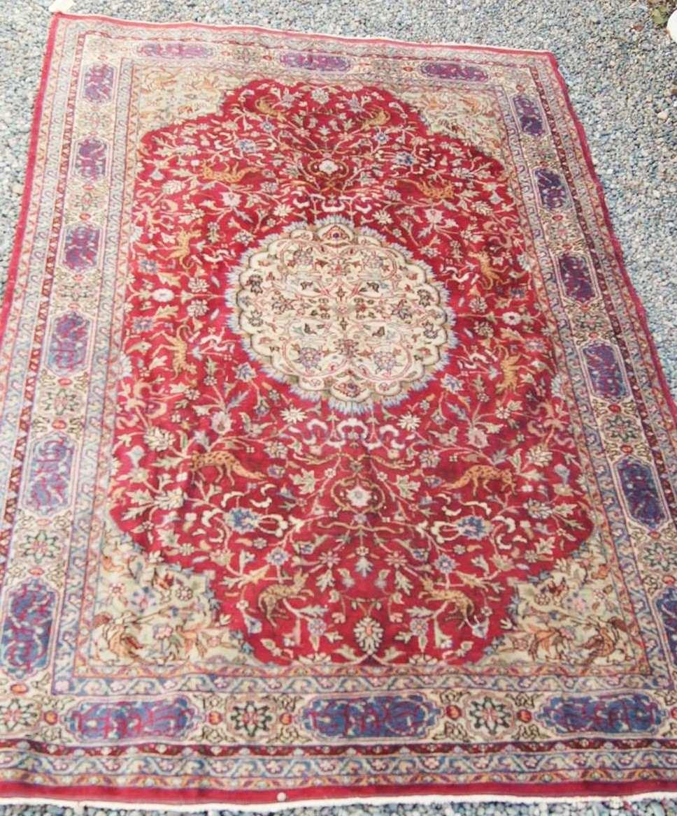 alfombra persa kirman 300 x 196 cms en
