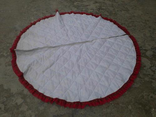 alfombra pie arbol tela acorchonado decorado med1,5 diametro