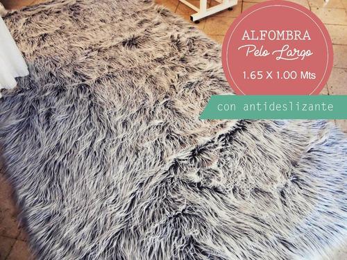 alfombra piel sintetica pelo largo 1.65 x 1.00 c/antidesliz