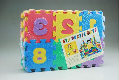 alfombra piso de goma de foami para niños 36 piezas 52x48 cm