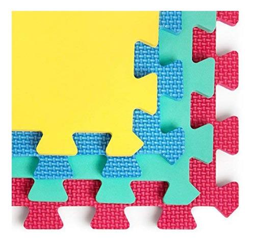 alfombra piso goma eva 10 cuadros 30x30cm niños activity