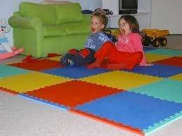 alfombra piso goma eva , set 6 piezas 63 x 63cm x 1cm grosor