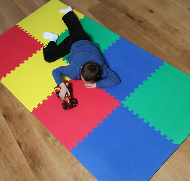 Alfombra piso goma eva set 6 piezas 63 x 63cm x1 1cm - Cubre piso alfombra ...