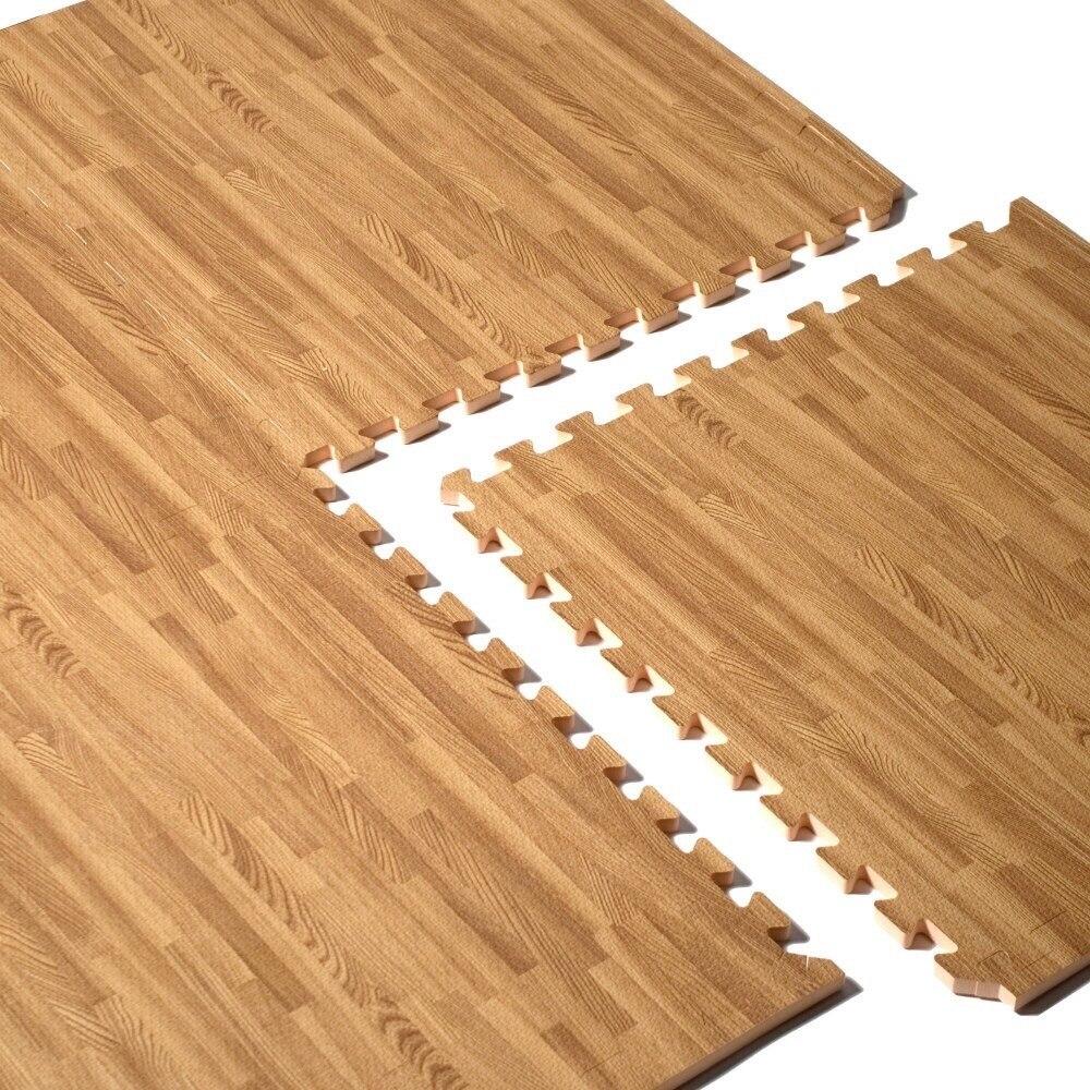 da74ef29620 alfombra piso goma eva tono madera 60x60cm antigolpes bebé. Cargando zoom.