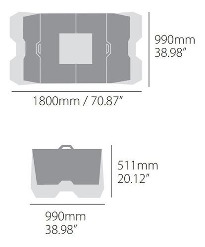 alfombra piso plastico plegable motos polisport solomototeam