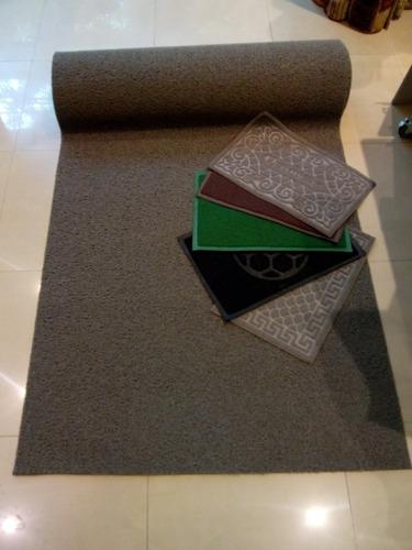 alfombra por metro rulo de pvc para logo gris exito diseño