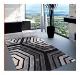 alfombra premium 100% poliester 120x180cm grises